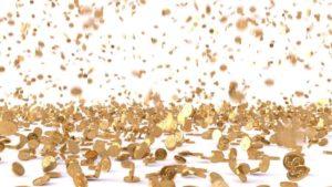 pioggia di gettoni d'oro
